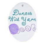 Keep Easter Happy Oval Ornament