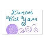 Dances With Yarn Sticker (Rectangle)