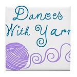 Dances With Yarn Tile Coaster