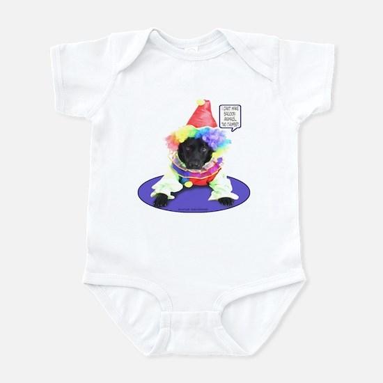 Black Lab Clown Infant Bodysuit