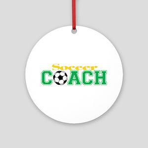 Soccer Coach Ornament (Round)