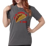 SeriousAsATacoRed Womens Comfort Colors Shirt