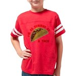 SeriousAsATacoRed Youth Football Shirt