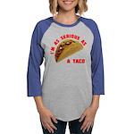 SeriousAsATacoRed Womens Baseball Tee