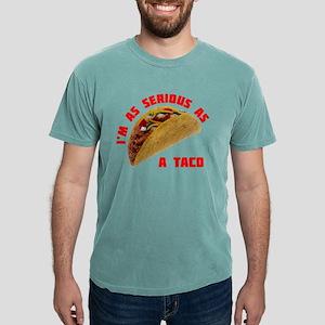 SeriousAsATacoRed Mens Comfort Colors Shirt