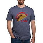 SeriousAsATacoRed Mens Tri-blend T-Shirt