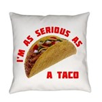 SeriousAsATacoRed Everyday Pillow