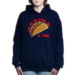 SeriousAsATacoRed Women's Hooded Sweatshirt
