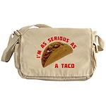 SeriousAsATacoRed Messenger Bag