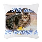spike2BIGa Woven Throw Pillow
