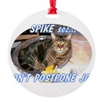 spike2BIGa Round Ornament