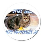spike2BIGa Round Car Magnet