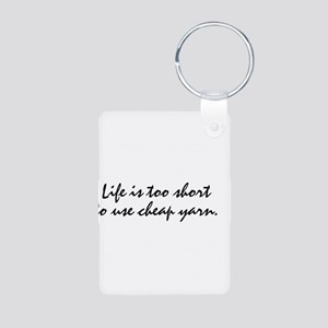 cheap yarn Aluminum Photo Keychain