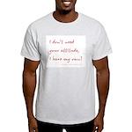 Attitude Ash Grey T-Shirt