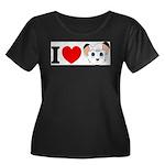 kimba Women's Plus Size Scoop Neck Dark T-Shir