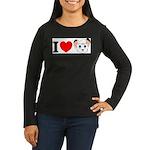kimba Women's Long Sleeve Dark T-Shirt