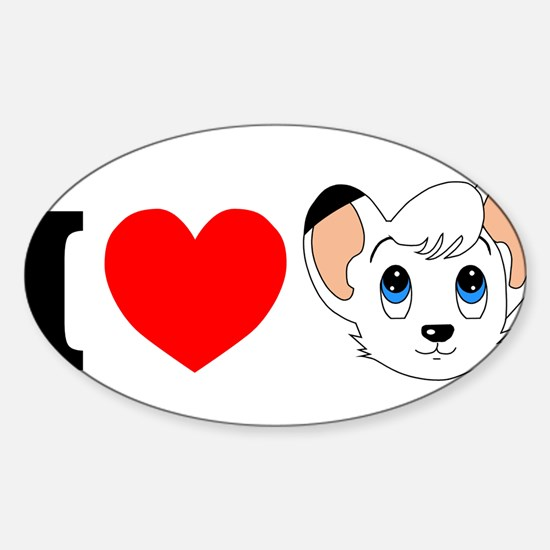 kimba.jpg Sticker (Oval)