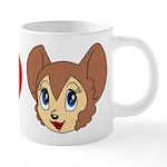 kitty1 20 oz Ceramic Mega Mug