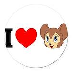 kitty1 Round Car Magnet