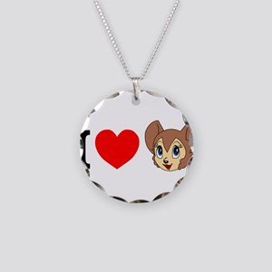 kitty1 Necklace Circle Charm