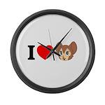 kitty1 Large Wall Clock