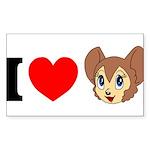kitty1 Sticker (Rectangle 10 pk)