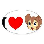 kitty1 Sticker (Oval 10 pk)