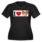 kitty1 Women's Plus Size V-Neck Dark T-Shirt
