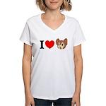 kitty1 Women's V-Neck T-Shirt