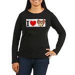 kitty1 Women's Long Sleeve Dark T-Shirt