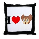 kitty1 Throw Pillow