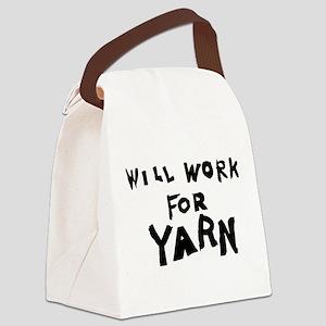 WillWorkForYarn Canvas Lunch Bag