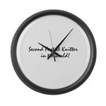 2ndfastestknitter Large Wall Clock