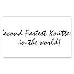 2ndfastestknitter Sticker (Rectangle 50 pk)