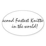 2ndfastestknitter Sticker (Oval 10 pk)