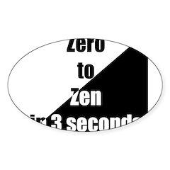 zero2zen Sticker (Oval 10 pk)