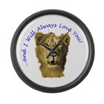 lionfacef Large Wall Clock