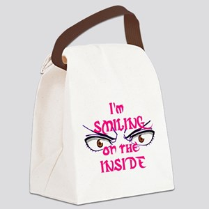 SmilingOnTheInside Canvas Lunch Bag