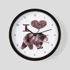I Love Bears Wall Clock