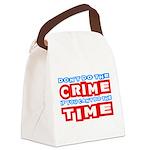 CrimeTime2-w Canvas Lunch Bag