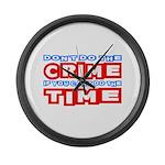 CrimeTime2-w Large Wall Clock