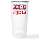 CrimeTime2-w 16 oz Stainless Steel Travel Mug