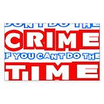 CrimeTime2-w Sticker (Rectangle 10 pk)