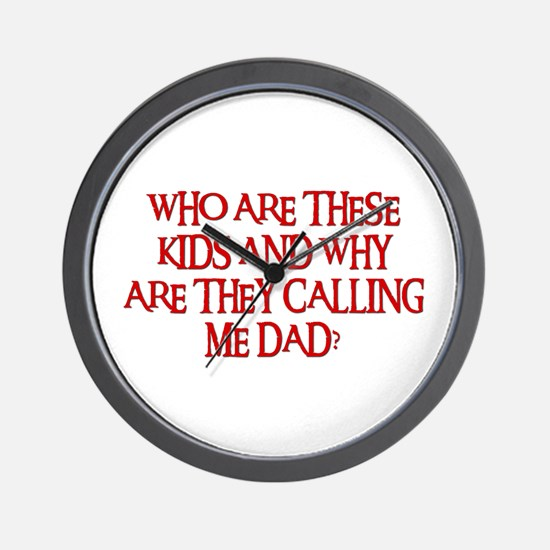 WHO ARE THESE KIDS Wall Clock