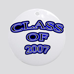 class of 2007 blue glow Ornament (Round)