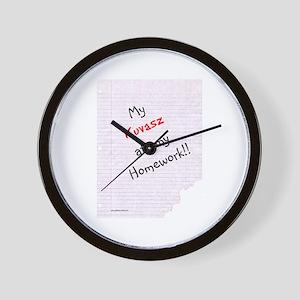 Kuvasz Homework Wall Clock