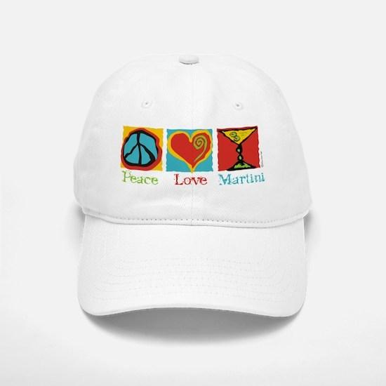 Peace Love Martini Baseball Baseball Cap