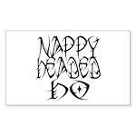 Nappy Headed Ho Tribal Design Sticker (Rectangular