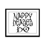 Nappy Headed Ho Tribal Design Framed Panel Print