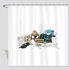 VintageMedicalDeskItems070111 Shower Curtain